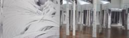 Vue de l'installation Tissage - Carte blanche à Min Jung-Yeon - Musée Guimet