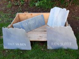 Morten Søndergaard - vue d'un ensemble de pierres bleues - 2021